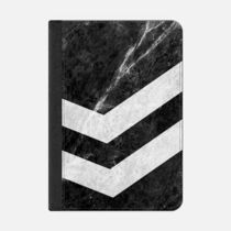 ★Casetify★iPadケース#WHITE ON BLACK STRIPED MARBLE