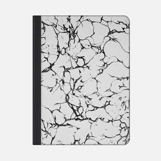 ★Casetify★iPadケース#TRENDY CHIC BLACK AND WHITE MARBLE