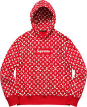 Supreme Louis Vuitton Box Logo Hoodie Red