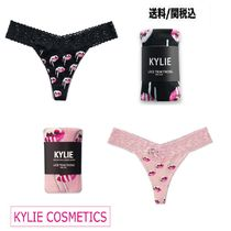 KYLIE COSMETICS(カイリーコスメティクス) ショーツ ★送料込【KYLIE COSMETICS】Pink Lips Thong Panties 黒 ピンク