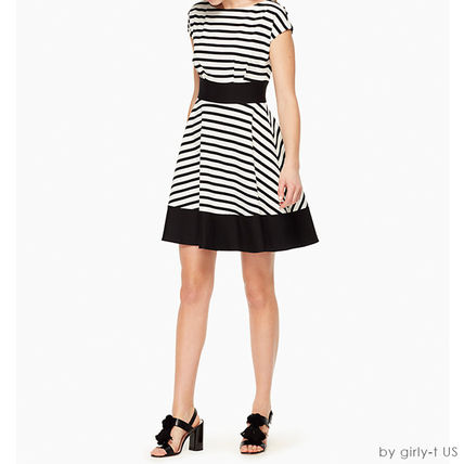 SALE ☆Kate spade☆ ponte stripe fiorella dress  ワンピース