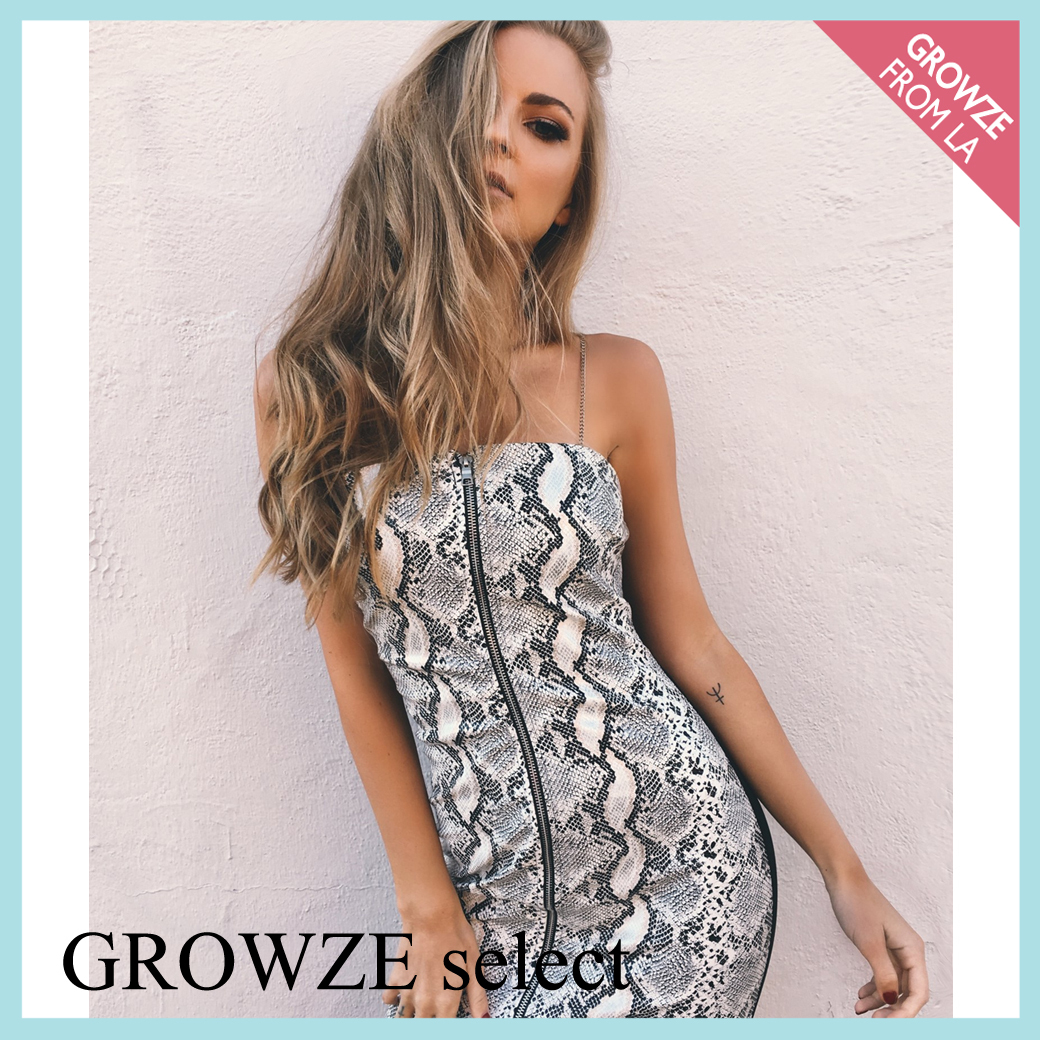 【GROWZE select】新作☆スネーク柄 ワンピース☆