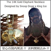 【King Ice x Snoop Dogg】14K Gold Elephantネックレス/送料込