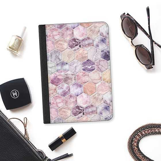 ★Casetify★iPadケース ROSE QUARTZ AND AMETHYST STONE