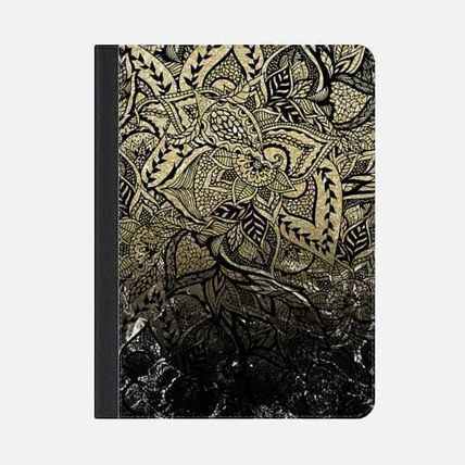 ★Casetify★iPadケース#MODERN GOLD OMBRE BLACK MARBLE