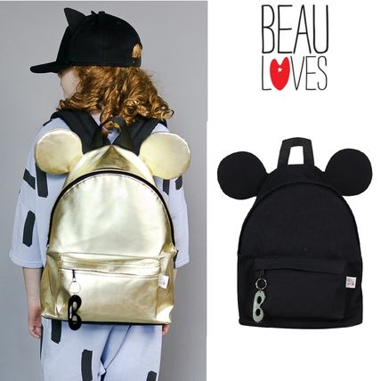 [Beau Loves] Backpack with earsミッキー耳付レザーリュック2色
