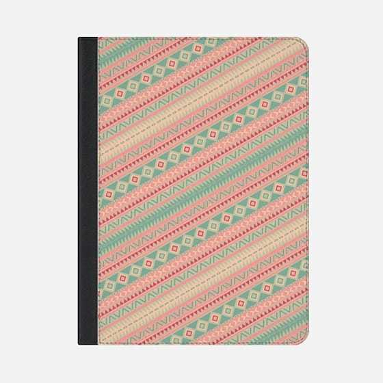 ★Casetify★iPadケース*RETRO TURQUOISE PINK ABSTRACT ANZTEC