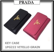 即発!【PRADA☆VITELLO GRAIN キーケース 1PG222】2色