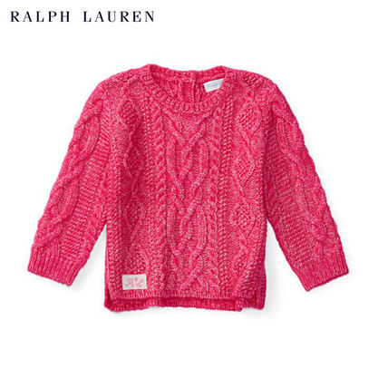 ☆RALPH LAUREN☆ ARAN-KNIT COTTON-BLEND SWEATER 0~24M