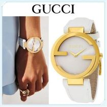 大特価 GUCCI(グッチ) Interlocking- White Leather YA133327