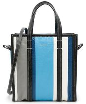 Leather Bazar Small Shopper Mlticolor Striped