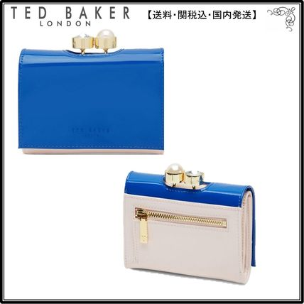 【UK発】TedBaker財布☆Alix Pearl And Crystal Bobble Small Le
