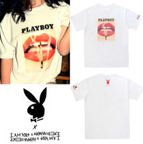 I AM NOT A HUMAN BEING(ヒューマンビーイング) Tシャツ・カットソー ★PLAY BOY★vintage cover t-shirt 3- White★Tシャツ