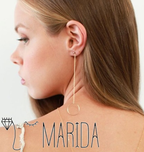 国内発送☆MARIDA★14金GF☆Aerial Earrings★