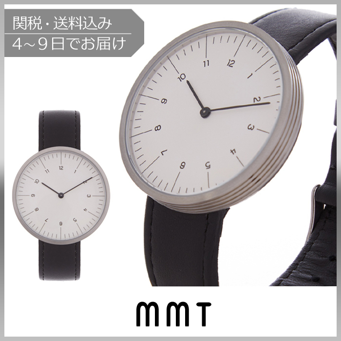 【VIPセール】MMT★C 13 stainless-steel and leather 腕時計