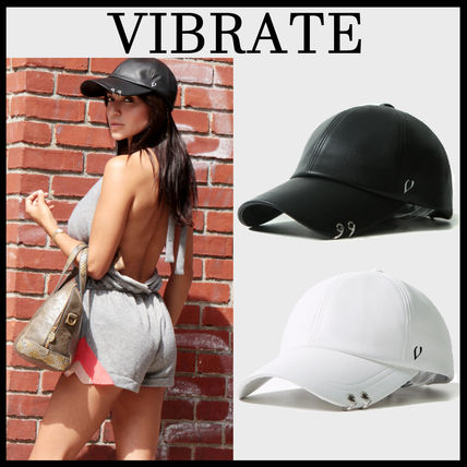 2色VIBRATE★バイブレート★SOFT LEATHER TWIN RING BALL CAP