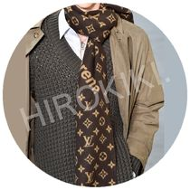Louis Vuitton Supreme Monogram Scarf モノグラム スカーフ 茶
