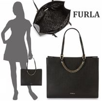 FURLA Maggie Solid レザー トートバッグ