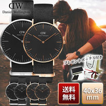 国内発送☆Daniel Wellington Classic Black Cornwall ペア
