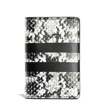 75179 COACH card wallet in python stripe leather
