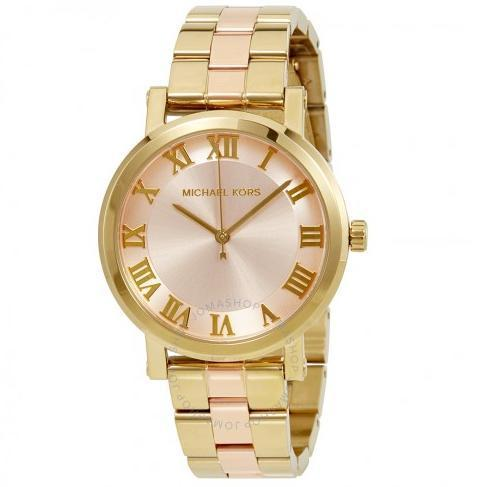 【MICHAEL KORS】 Norie Blush Dial Ladies Two Tone Watch