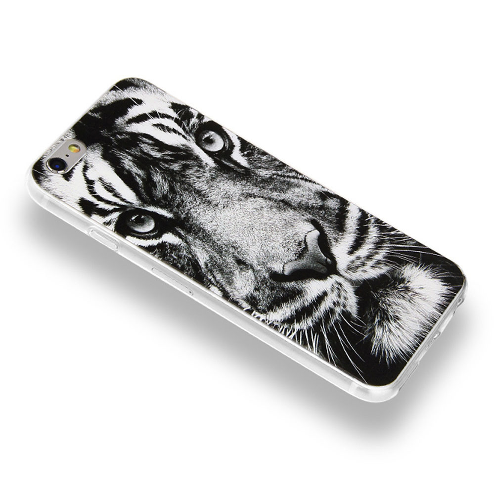 ★ユニーク★3D 虎 Tiger Print iPhone Case 6/6S/6+, 7/7+★