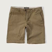 送料無料!アバクロ A&F Classic Fit Shorts-Dark Khaki