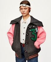 MM250 LOOK6 OVERSIZED BOMBER JACKET WITH APPLIQUE