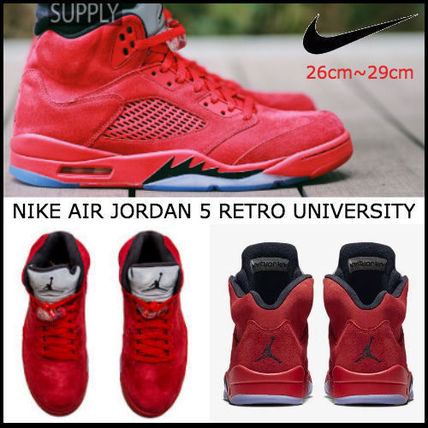 人気☆エアジョーダン NIKE AIR JORDAN 5 RETRO UNIVERSITY RED