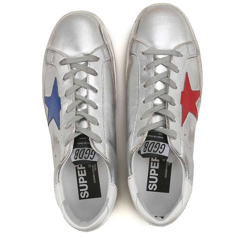 【関税負担】GOLDEN GOOSE 17AW SUPERSTAR SILVER/RED