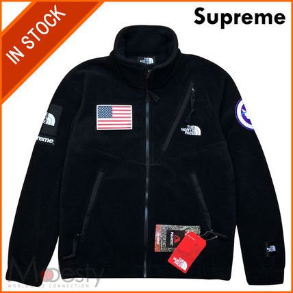 日本国内発送 SUPREME TNF TRANS EXPEDITION FLEECE JACKET 黒M