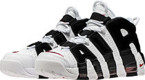 税・送込! 22.5〜25cm★Nike Air More Uptempo 白×黒