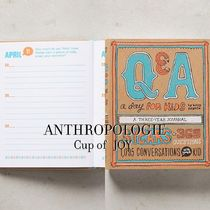 Anthropologie(アンソロポロジー) 絵本・ぬり絵・シール 【子供用絵本】Q&A A Day For Kids: A Three-Year Journal