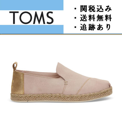 """TOMS""Blush Suede with Gold Metallic レディース スリッポン"