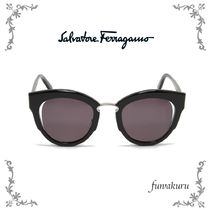 ◆キャットアイ◆【SalvatoreFerragamo】CatEyeSunglasses Black