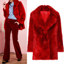 PR535 SHEEP FUR SINGLE BREASTED COAT