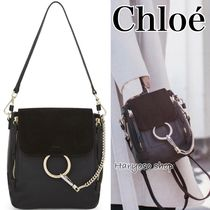 VIP価格★Chloe★Faye small leather backpack