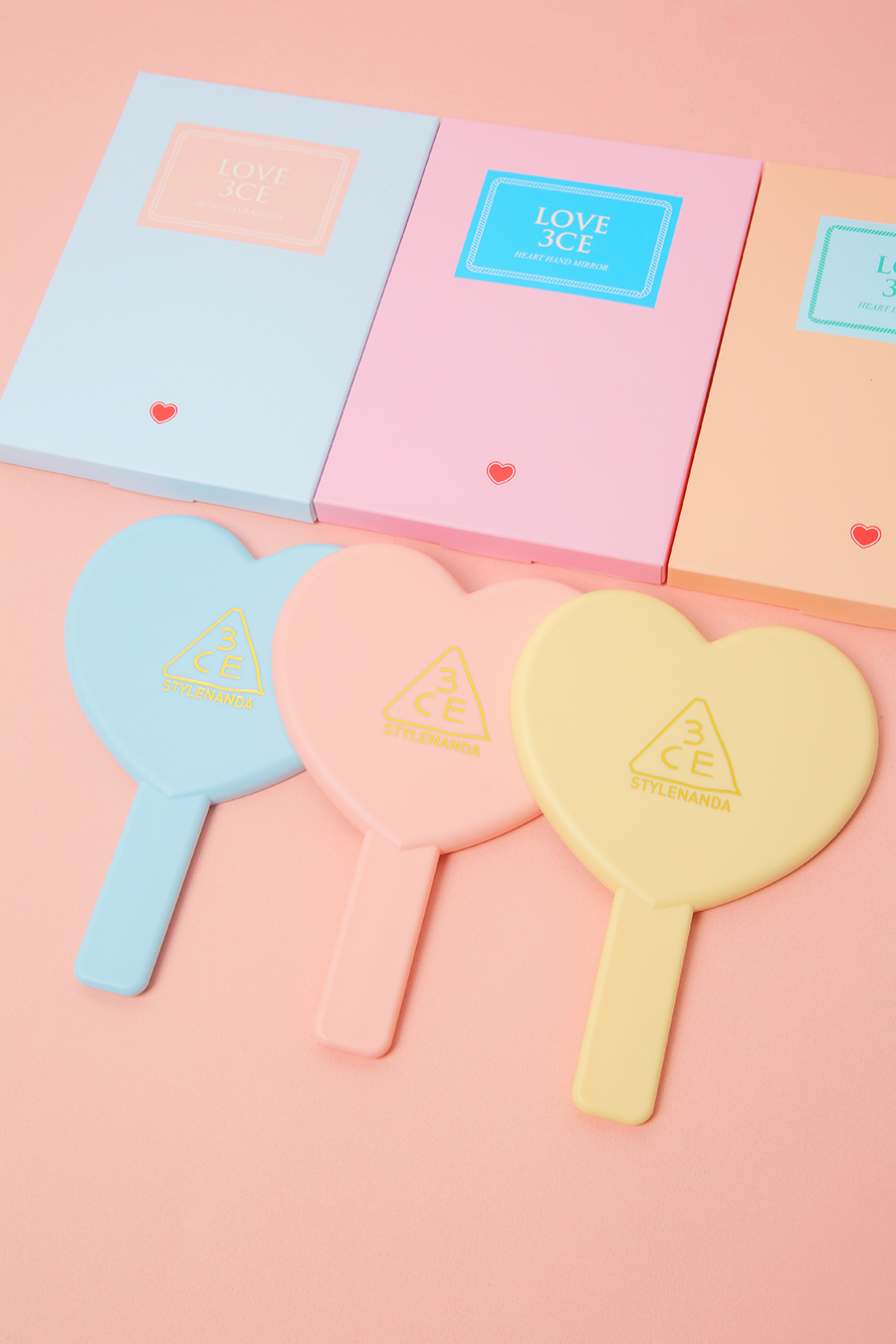 【3CE】LOVE 3CE HEART HAND MIRROR
