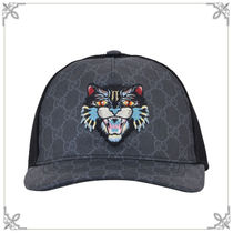 17AW新作【GUCCI】GG Supreme Angry Cat キャップ Black