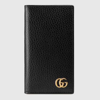 [GUCCI] ★2017最新作★ GG Marmont iPhone 7 wallet case black