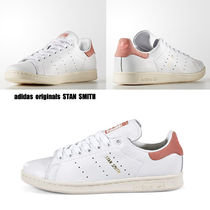 adidas★STAN SMITH★本革★兼用★ヴィンテージ風★白×ピンク系