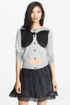 Alice Olivia Cardigan Stace Face Gray M  カーディガンセール