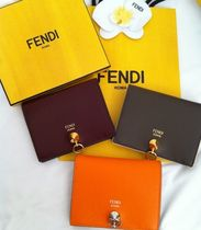 17AW【FENDI】By The Wayバイカラーコンパクトな2つ折り財布