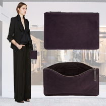 Ann Demeulemeester(アン ドゥムルメステール) クラッチバッグ 限定セール♪Ann Demeulemeester Purple Suede Zip Pouch-W27cm