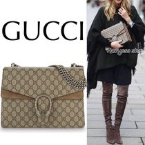 VIP価格★GUCCI★Dionysus medium GG Supreme shoulder bag
