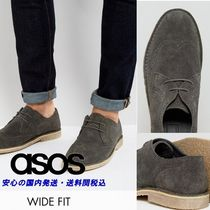 ASOS☆Derby Shoes In Grey Suede With Brogue Detailing♪