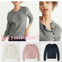 【Abercrombie&Fitch】ButtonCREWNECK SWEATER かわいいセーター