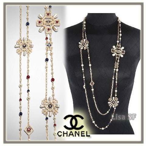 2017-18AW ☆CHANEL☆アクセントに!豪華♪ロングネックレス