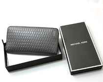 箱入り☆Michael Kors☆JET SET LEATHER WALLET スマホ長財布