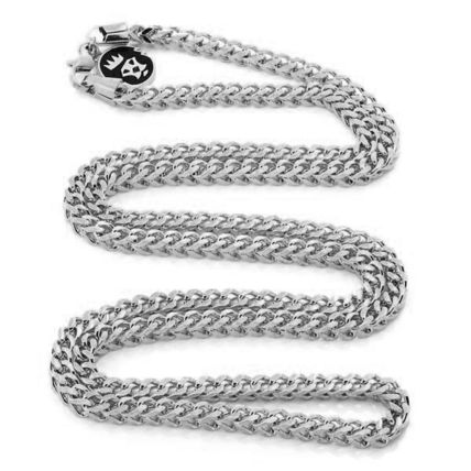 King Ice ネックレス・チョーカー LA発ストリート★King Ice★HipHopチェーンFranco 4mm Stainless(5)